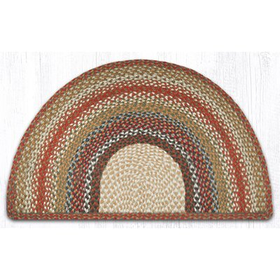 Braided Red / Brown Area Rug Rug Size: Semi-Circle 2 x 33
