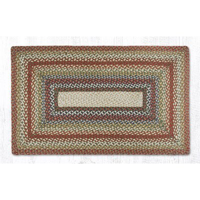 Braided Red / Brown Area Rug Rug Size: 23 x 39