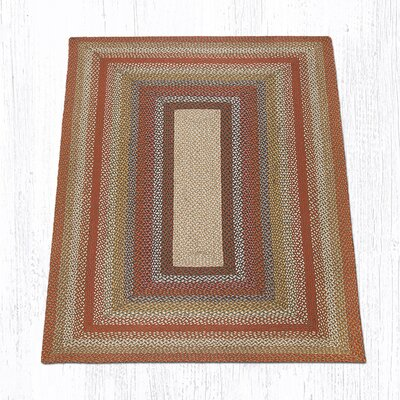 Braided Red / Brown Area Rug Rug Size: Rectangle 5 x 8