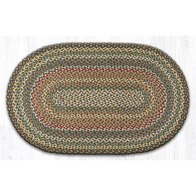 Kiefer Hand-Woven Brown/Gray Area Rug Rug Size: Oval 23 x 39