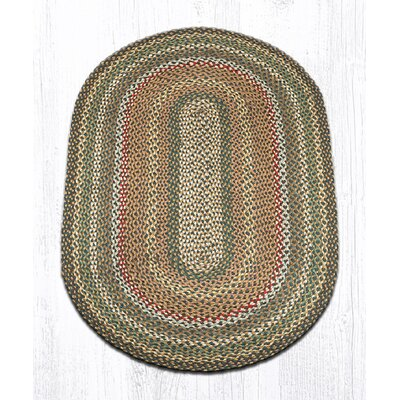 Kiefer Hand-Woven Brown/Gray Area Rug Rug Size: Oval 3 x 5