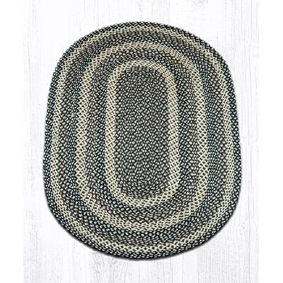 Ebony/Ivory/Chocolate Braided Area Rug Rug Size: Oval 3 x 5