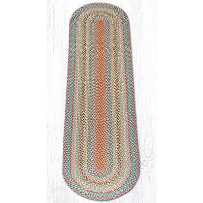 Multi 1 Braided Area Rug Rug Size: Oval Runner 2 x 8