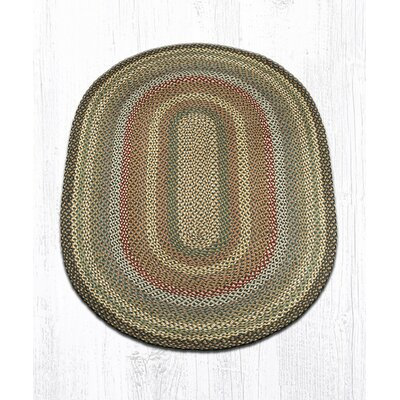 Hand-Woven Brown/Gray Area Rug Rug Size: Oval 4 x 6