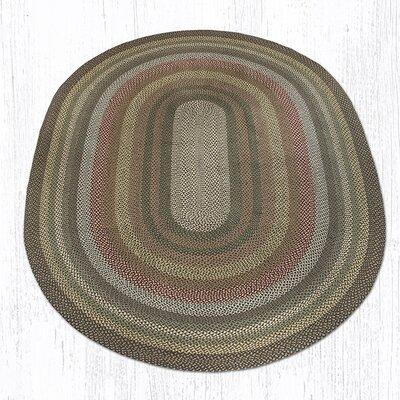 Kiefer Hand-Woven Brown/Gray Area Rug Rug Size: Oval 8 x 11