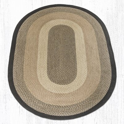 Chocolate/Natural Braided Area Rug Rug Size: Oval 6 x 9