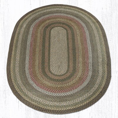 Kiefer Hand-Woven Brown/Gray Area Rug Rug Size: Oval 6 x 9