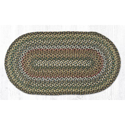 Kiefer Hand-Woven Brown/Gray Area Rug Rug Size: Oval 18 x 3