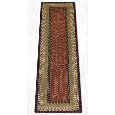 Burgundy/Mustard Braided Area Rug Rug Size: Runner 2 x 8