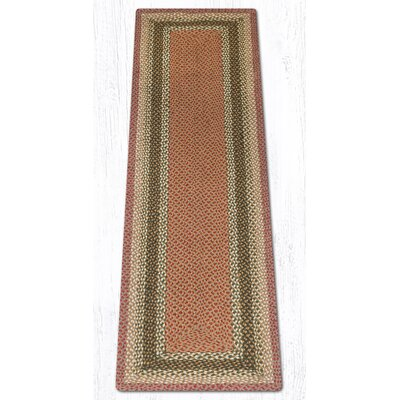 Olive/Burgundy/Gray Braided Area Rug Rug Size: Runner 2 x 8