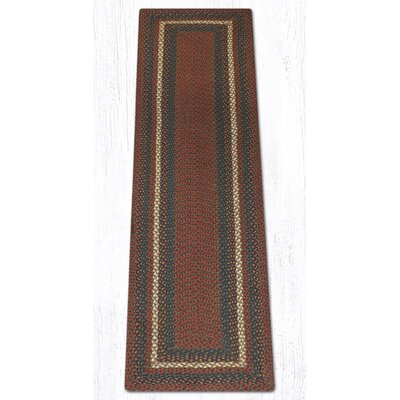Burgundy/Gray Braided Area Rug Rug Size: Runner 2 x 8