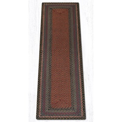 Burgundy/Blue/Gray Braided Area Rug Rug Size: Runner 2 x 8