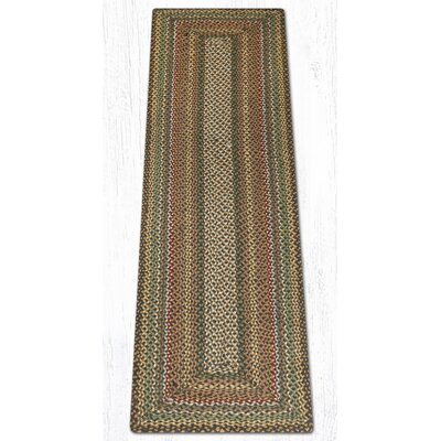 Fir/Ivory Braided Area Rug Rug Size: Runner 2 x 8