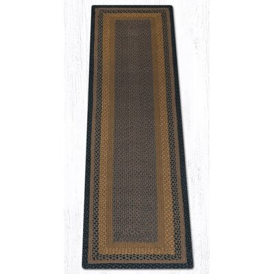 Brown/Black/Charcoal Braided Area Rug Rug Size: Runner 2 x 8