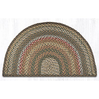 Kiefer Hand-Woven Brown/Gray Area Rug Rug Size: Semi-Circle 2 x 33