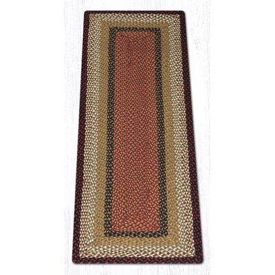 Burgundy/Mustard Braided Area Rug Rug Size: Runner 2 x 6