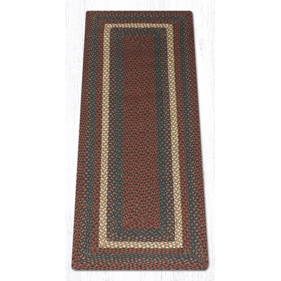 Burgundy/Gray Braided Area Rug Rug Size: Runner 2 x 6