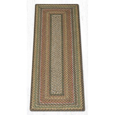 Fir/Ivory Braided Area Rug Rug Size: Runner 2 x 6