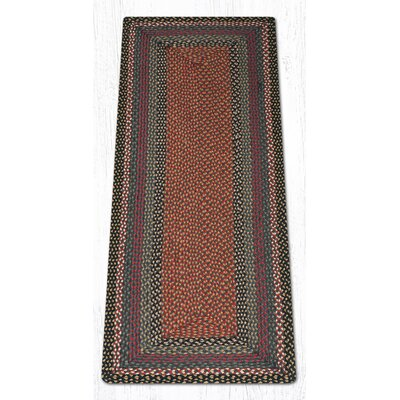 Burgundy/Blue/Gray Braided Area Rug Rug Size: Runner 2 x 6