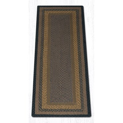 Brown/Black/Charcoal Braided Area Rug Rug Size: Runner 2 x 6