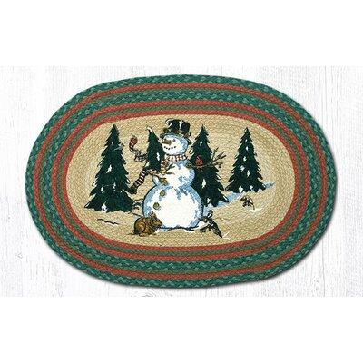 Winter Wonderland Printed Area Rug Rug Size: Oval 18 x 26