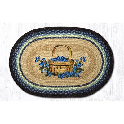 Blueberry Basket Printed Area Rug Rug Size: Oval 18 x 26