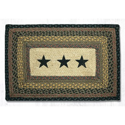 Black Stars Printed Area Rug Rug Size: Rectangle 18 x 26