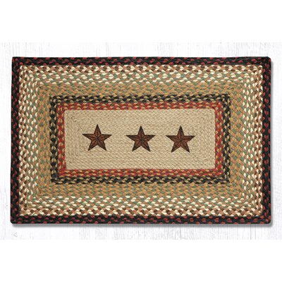 Barn Stars Printed Area Rug Rug Size: Rectangle 18 x 26