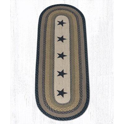 Black Stars Printed Area Rug Rug Size: Runner 2 x 6