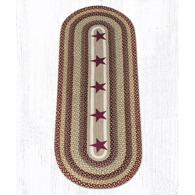 Burgundy Stars Printed Area Rug Rug Size: Runner 2 x 6