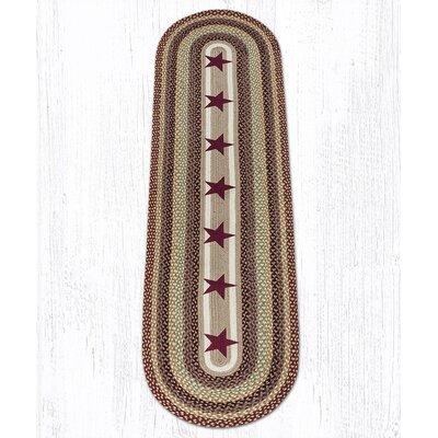 Burgundy Stars Printed Area Rug Rug Size: Runner 2 x 8