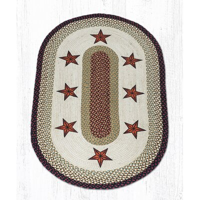 Barn Stars Printed Area Rug Rug Size: Oval Runner 2 x 8