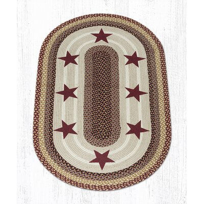 Burgundy Stars Printed Area Rug Rug Size: 3 x 5