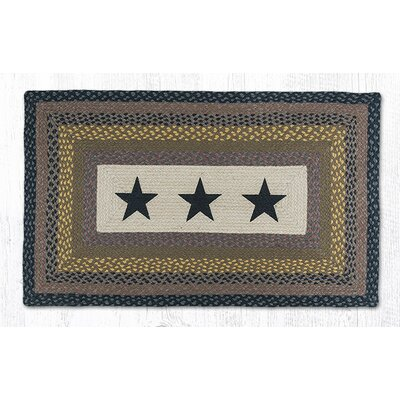 Black Stars Printed Area Rug Rug Size: Rectangle 23 x 39