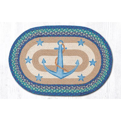 Anchor Stars Oval Patch Doormat