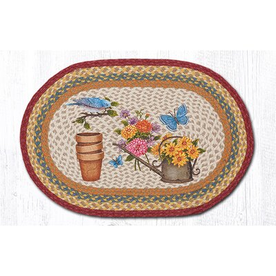 Rustic Garden Oval Patch Doormat