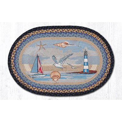 Sea Coastal Oval Patch Doormat