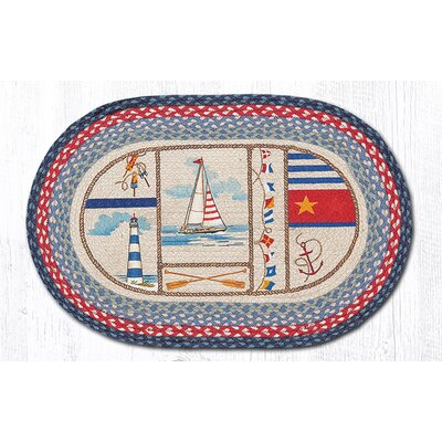 Nautical Breeze Oval Patch Doormat