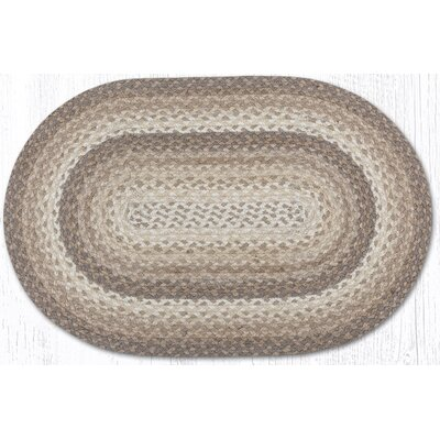 Oval Braided Doormats Rug Size: 5 x 8, Color: Teal