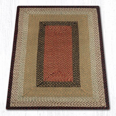 Burgundy/Mustard Braided Area Rug Rug Size: Rectangle 4 x 6