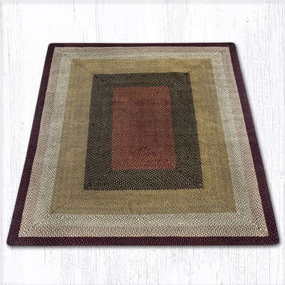Burgundy/Mustard Braided Area Rug Rug Size: Rectangle 8 x 10