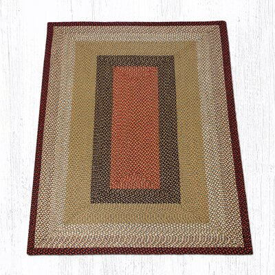Burgundy/Mustard Braided Area Rug Rug Size: Rectangle 5 x 8