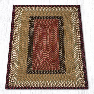 Burgundy/Mustard Braided Area Rug Rug Size: Rectangle 3 x 5