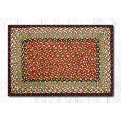 Burgundy/Mustard Braided Area Rug Rug Size: Rectangle 18 x 26