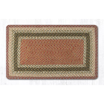 Olive/Burgundy/Gray Braided Area Rug Rug Size: 23 x 39