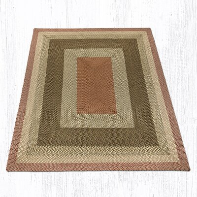 Olive/Burgundy/Gray Braided Area Rug Rug Size: 8 x 10