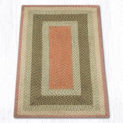 Olive/Burgundy/Gray Braided Area Rug Rug Size: 3 x 5