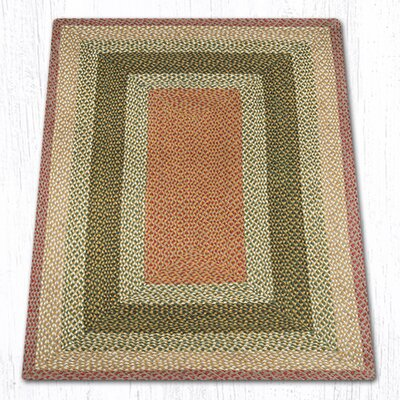 Hand-Woven Burgundy/Gray Area Rug Rug Size: Rectangle 4 x 6