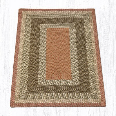 Olive/Burgundy/Gray Braided Area Rug Rug Size: 5 x 8