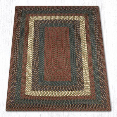 Burgundy/Gray Braided Area Rug Rug Size: 4 x 6